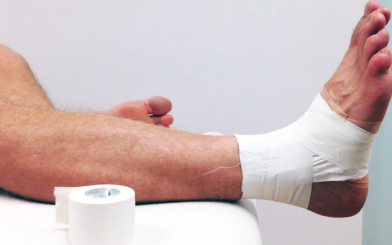 Bandagem rígida na estabilização do tornozelo